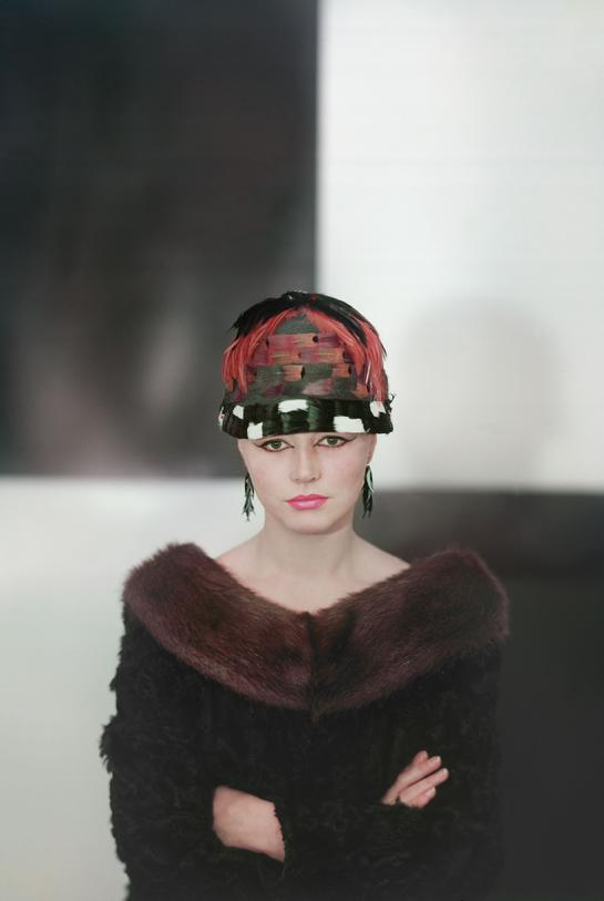 CLAIRE AHO © www.claireaho.com aho & soldan photo london paris photo colour photography 1960 finland woman fur hat