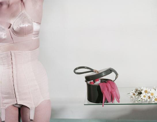 CLAIRE AHO © www.claireaho.com aho & soldan photo london paris photo colour figura raina lingerie woman handbag